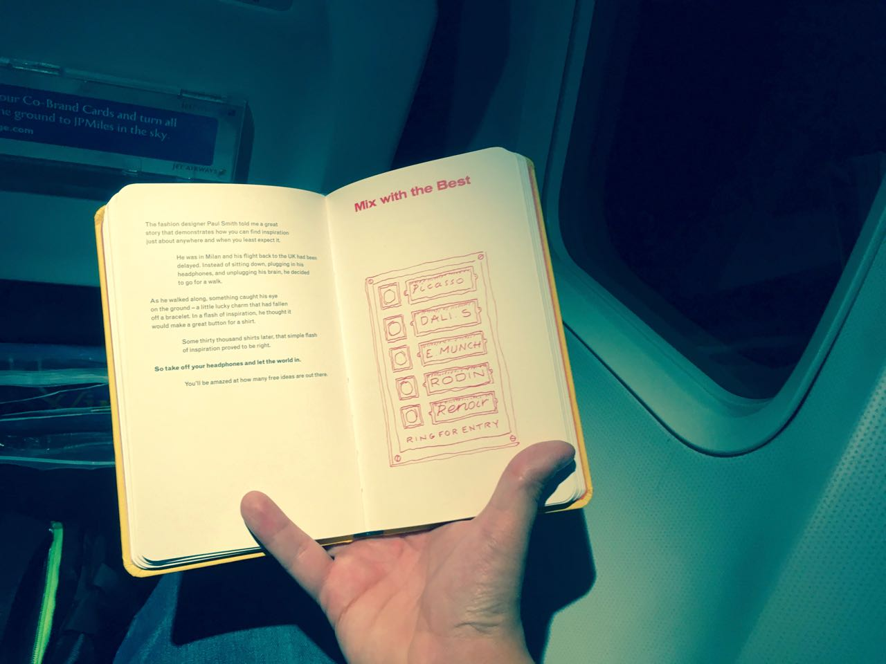 Book Reading on an aeroplane journey