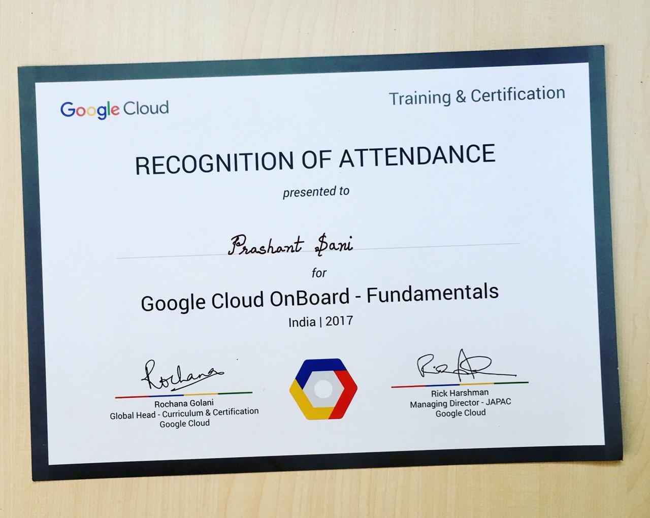 Google Cloud Platform Onboarding Training Conference Mumbai 2017